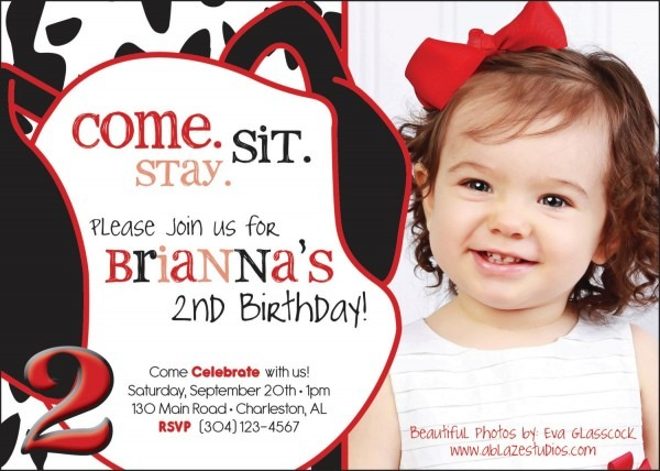 101 Dalmatians Inspired Birthday, Invitation