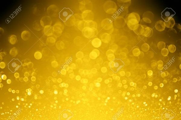 Elegant Dark Black Gold Glitter Sparkle Confetti Glitz Background
