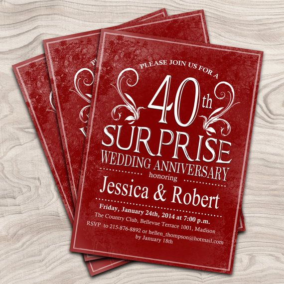 8 Best Wedding Anniversary Party Images On Best Party Invitation Collection