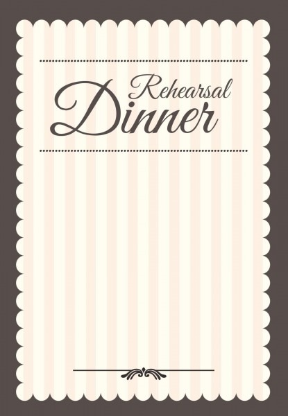 Stamped Rehearsal Dinner