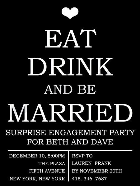 Wedding Engagement Party Invitation Diy In 2018
