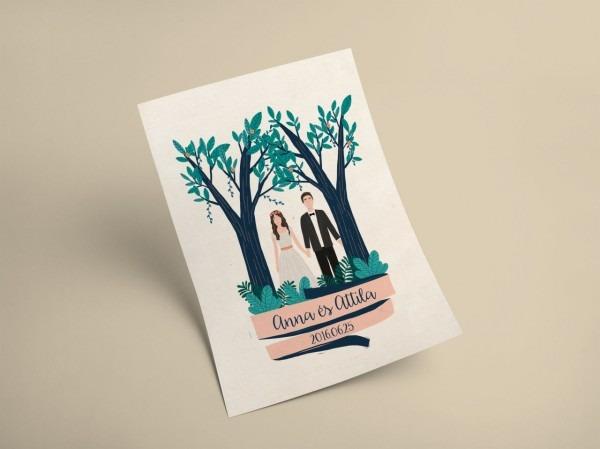 Illustrated Wedding Invite