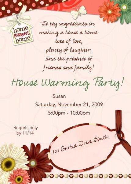 Housewarming Invitations Message