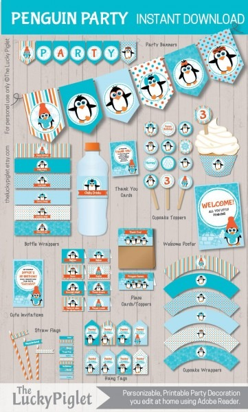 Penguin Party Printables For A Penguin Birthday Party Or Penguin