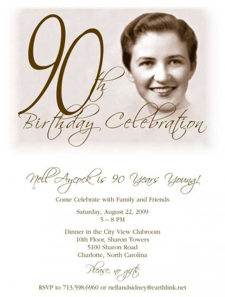 90th Birthday Invitation Template Free Cool With 90th Birthday