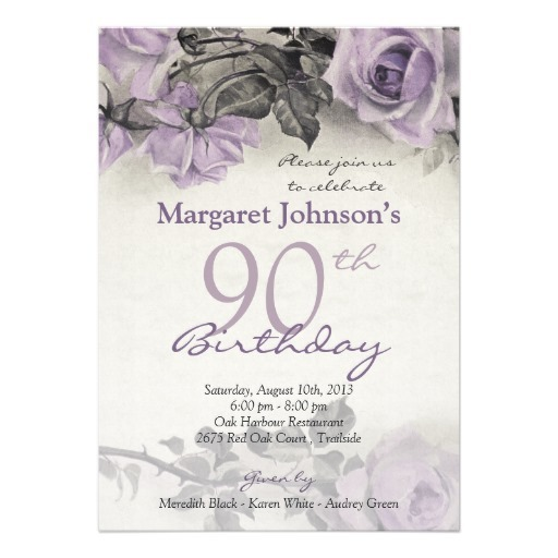 90th Birthday Invitations 90th Birthday Invitations For Well
