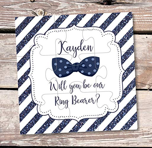 Ring Bearer Gift Will You Be Our Ring Bearer Puzzle Invitation