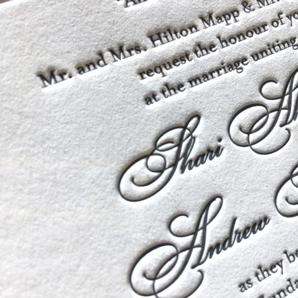 Custom Letterpress Wedding Invitations & Affordable Letterpress