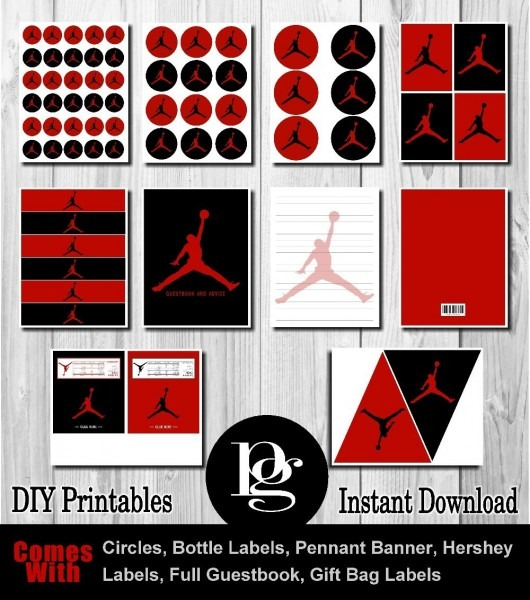 Michael Jordan Party, Jordan Party, Jordan Party Supplies, Jordan