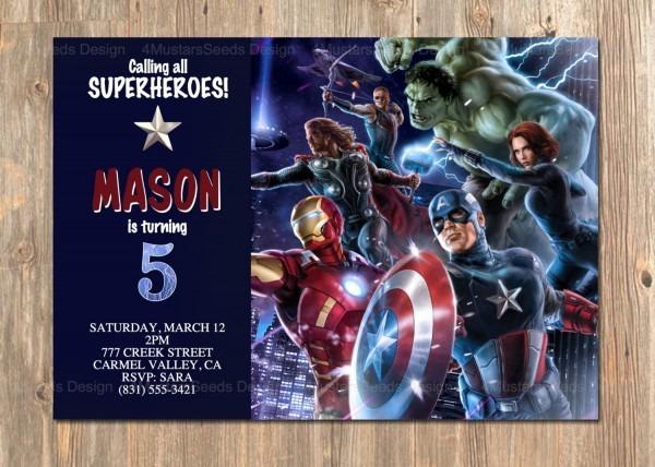 Avengers Birthday Invitation, Avengers Invite, Avengers Party