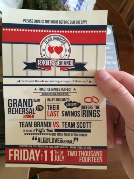 Love These Baseball Theme Wedding And Rehearsal Invitations