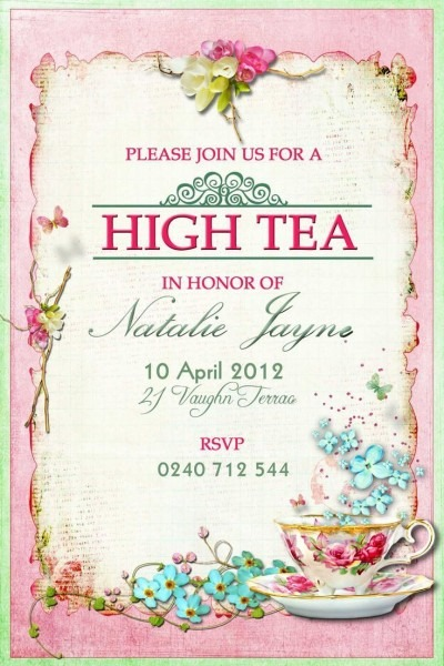 Tea Party Baby Shower Invitation In 2018