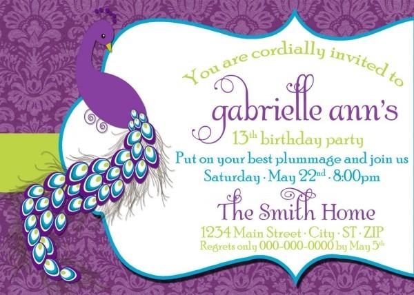 Birthday Party Invitation Dress Code Wording