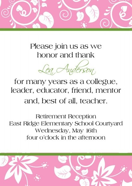 Love The Wording  Retirement Reception Invitation  $10 00, Via