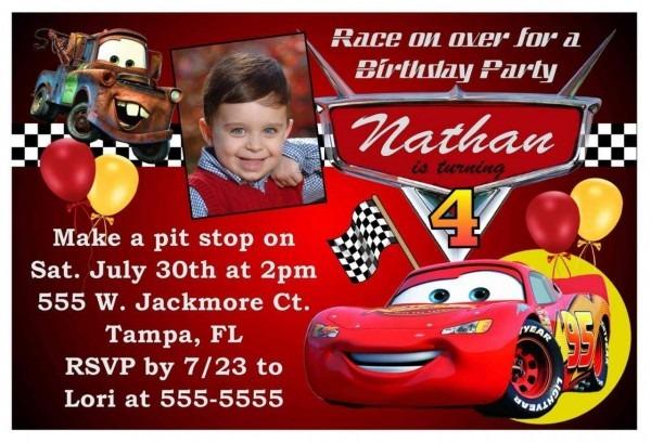 Free Printable Birthday Invitations Cars Theme