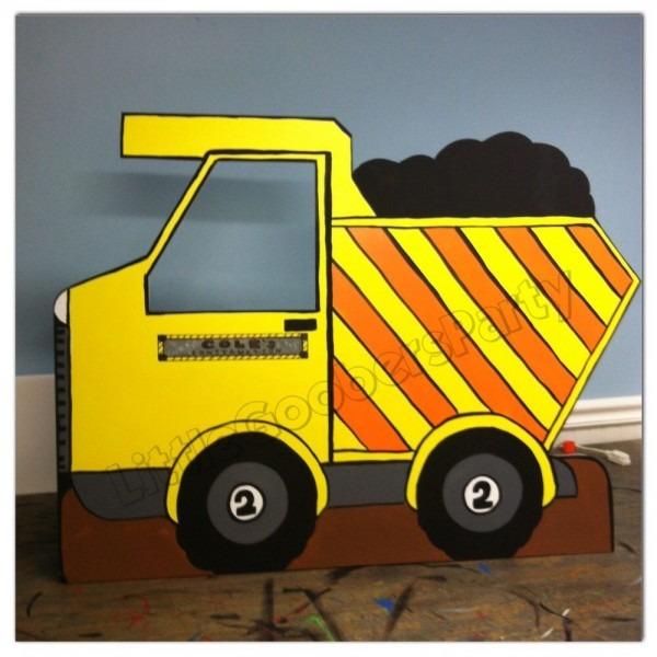 Construction Dump Truck Photo Prop Personalized (foam Board