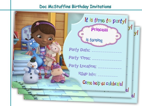 Doc Mcstuffins Invitations Free