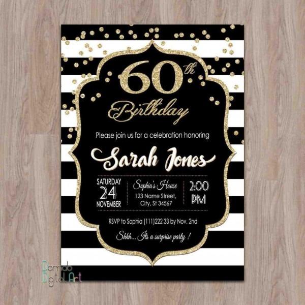 60th Birthday Invites  18th Birthday Invitation Pink And Black