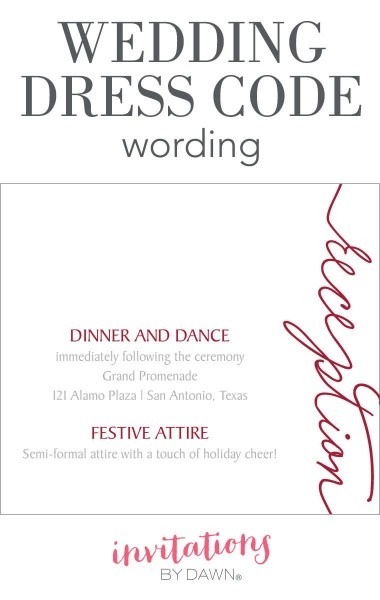 Wedding Dress Code Wording