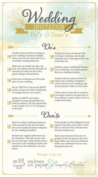 6 Super Helpful Wedding Invitation Checklists
