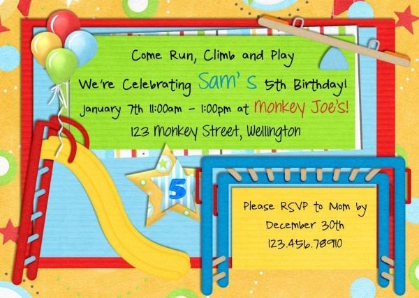 Park Birthday Invitation Playground Picnic Printable And Custom