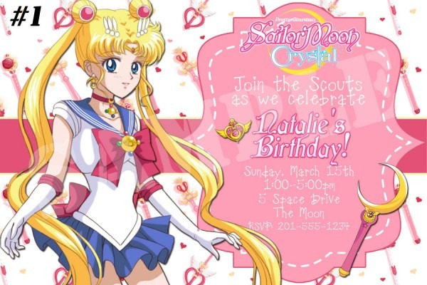 Anime Party Invitations