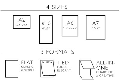 Wedding Invitation Size Chart