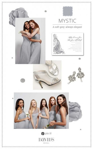 Mystic, The Newest Bridesmaid Grey At David's Bridal