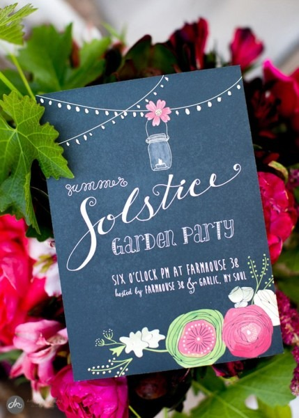 Summer Solstice Party Invitation  Had So Much Fun Adding In The