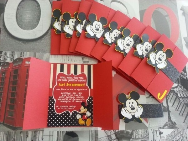 Mickey Mouse Birthday Invitation By Purpletrailcom  Mickey Mouse