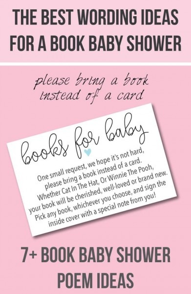 9  Bring A Book Instead Of A Card  Baby Shower Invitation Ideas In