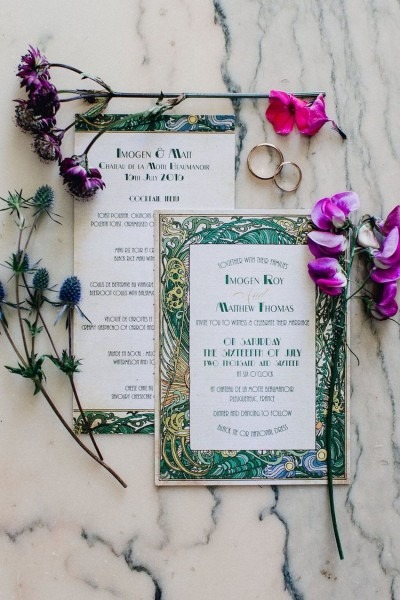 A Celtic Themed Vintage Wedding In A 16th Century French Chateau