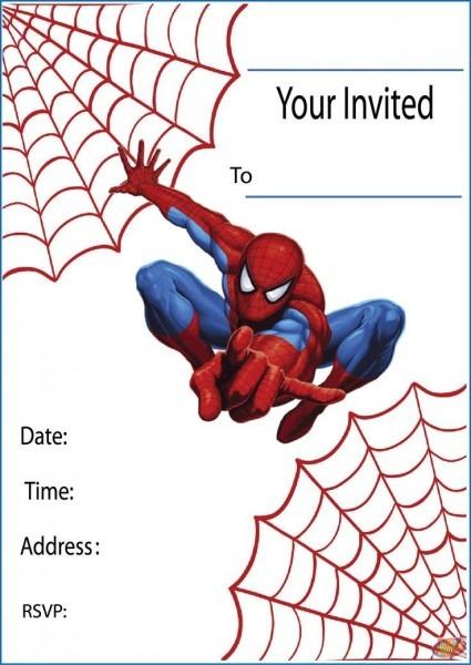 Invitation Template  Spiderman Invitation Templates Free