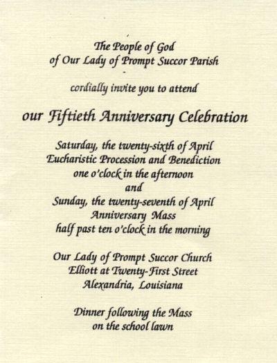 Church Invitation Wording
