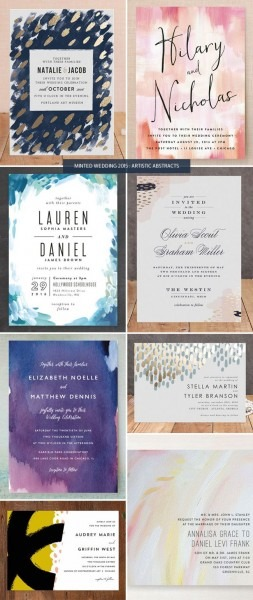 Minted Wedding Invitations 2015   Artistic Abstracts