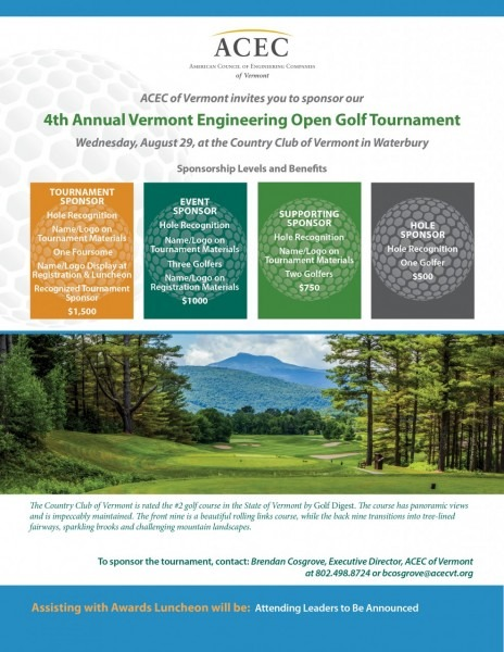 Event Sponsor  4th Annual Acec Of Vermont Engineering Open Golf