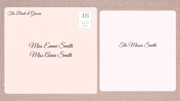Address Label Etiquette Family How To Address Wedding Invitations