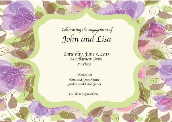 Engagement Party Invitation By Graciousstatements On Etsy