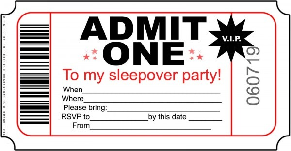 Admit One Invitation Template