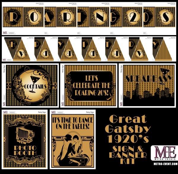 1920's Party, Gatsby Invitations, Art Deco Birthday, Flapper