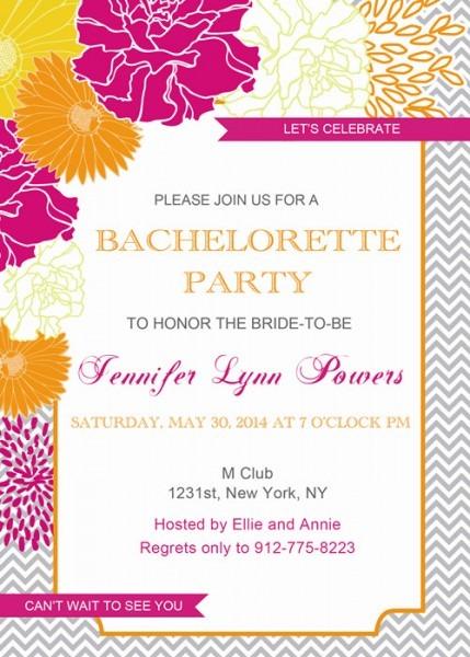 Affordable Rustic Floral Bachelorette Party Invitation Card Ewbi I