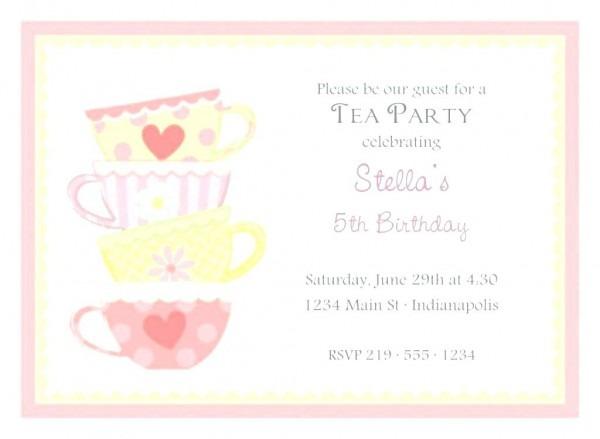 Afternoon Tea Invitations Birthday Uk High Bridal Shower