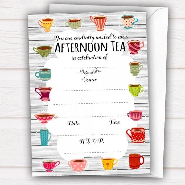 20 X Afternoon Tea Invitations, All