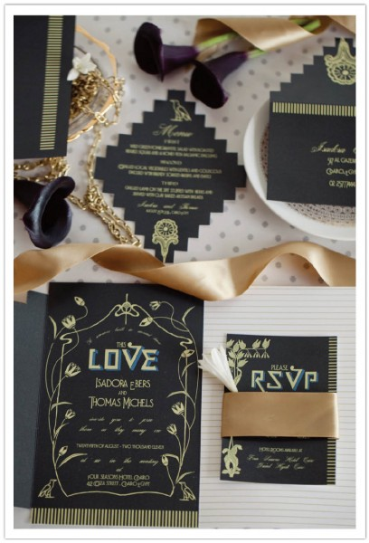 Egyptian Luxury Wedding Invitations