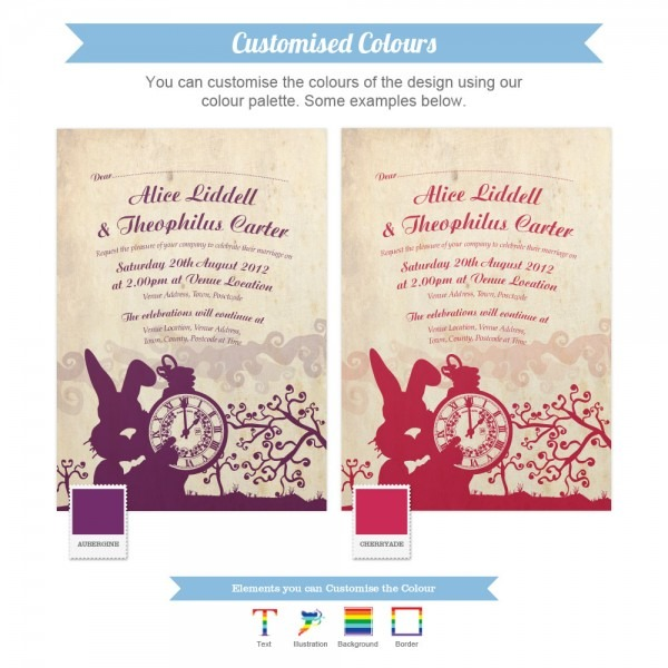 Alice In Wonderland Wedding Invitations & Stationery