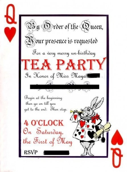 Invitation Template  Alice In Wonderland Invitations Template Free