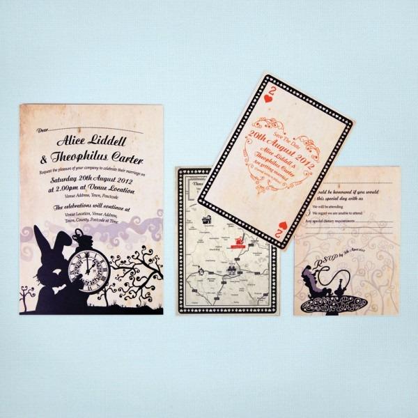 Alice In Wonderland Wedding Invitations Alice In Wonderland