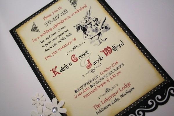 Alice In Wonderland Wedding Invitations Of Charming Wedding
