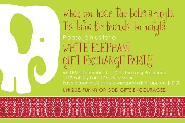 White Elephant Party Lovely White Elephant Christmas Party