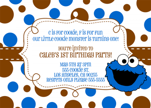 Cozy Cookie Monster Birthday Invitations Which You Need To Make